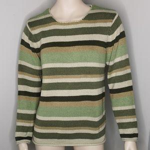 Jessica Striped Round Neck Comfy Knit Sweater
